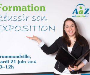 Formation « Réussir son exposition » (2016-06-21, Drummondville)